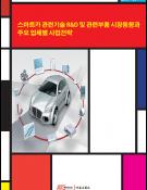 스마트카 관련기술 R&D 및 관련부품 시장동향과 주요 업체별 사업전략